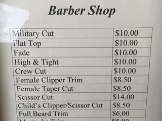 NAS Kingsville Directory - Barber Shop (NEX) photo number 2